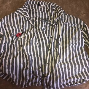 """h&m striped """"authentic"""" flannel"""